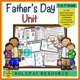 Father's Day Unit: Activities, Center & Gifts