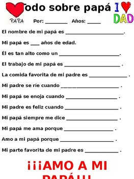 Father's Day Activity - English & Spanish