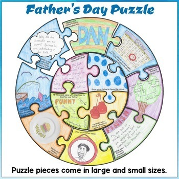 Father's Day Craft Activity Puzzle Poster