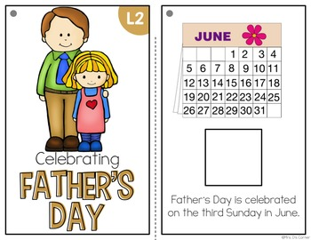 Father's Day Adapted Books ( Level 1 and Level 2 )