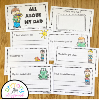 Father S Day All About My Dad A Printable Book To Celebrate