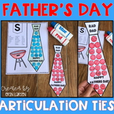Father's Day Articulation Ties | Father's Day Speech Therapy