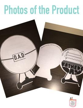 Father's Day Card - BBQ & Hamburger