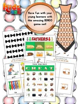 Father's Day Bingo Matching Activities