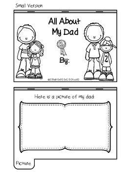 Father's Day Book - All About My Dad