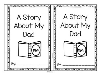 Father's Day Gift Booklet to Make - A Story About My Dad