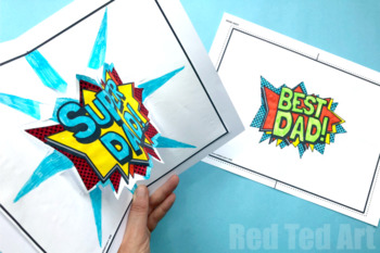 Father's Day Bundle - Coloring Pages for Father's Day - Pop Up Card & Bookmarks