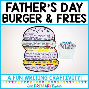 Father's Day Burger and Fries Writing Craftivity