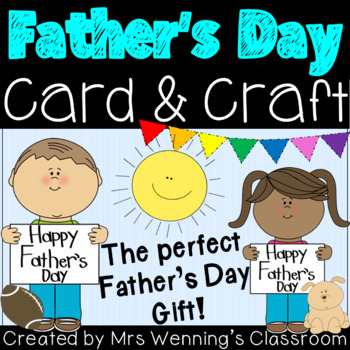 Father's Day Card Activities Pack