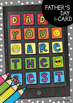Father's Day Card {An i-Card with Options}