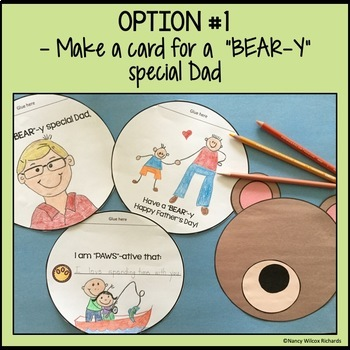 """Father's Day Card & Book for a """"BEAR""""-y Special Dad"""