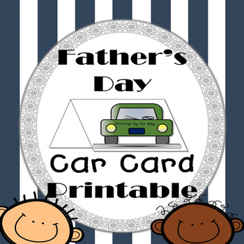 Father's Day Car Card Printable