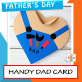Father's Day Card - Father's Day Craft - Handy Dad Heart Card