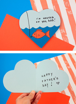 Father's Day Card - Hooked On You, Dad! - Father's Day Craft