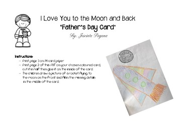 Father's Day Card - I love you to the moon and back