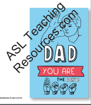 Father's Day Card in American Sign Language, Holiday