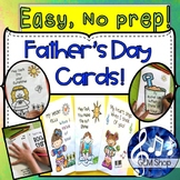 Father's Day Cards - No Prep, Art, Literacy, All Subjects,