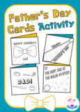 Father's Day Cards for Father's Day Activity or Craft, Multiple Themes