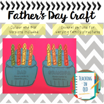 Father's Day Celebrate Cake Craft