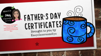 Father's Day Certificates!!!