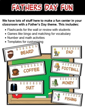 Father's Day Classroom Center Bundle