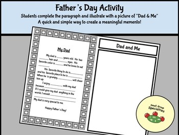 Father's Day Cloze Paragraph