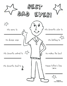 Father's Day Coloring