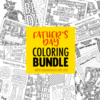 Father's Day Coloring Bundle | Coloring pages and printable activities