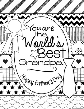 """Father's Day Coloring Page: """"Pattern Picture"""" for Father's Day"""