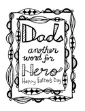 Father's Day Coloring Page ... for Dad, Another Word for H