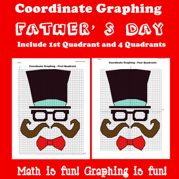 Father's Day Coordinate Graphing Picture: Father's Day