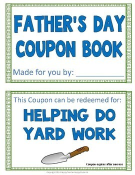 Father's Day Coupon Book: 12 Coupons in Color & Black, Includes Blank Coupon!