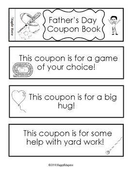 Father's Day Coupon Book FREE