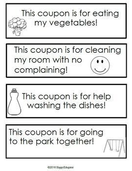 Father's Day Activity FREE Make a Coupon Book Gift