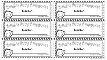 Father's Day Coupons and Craftivity