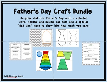 Father's Day Craft Bundle with Colorful Tie