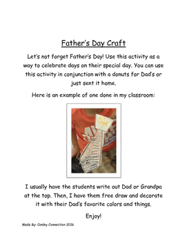 Father's Day Craft and Gift