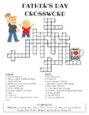 Father's Day Crossword Puzzle (Color and BW versions)