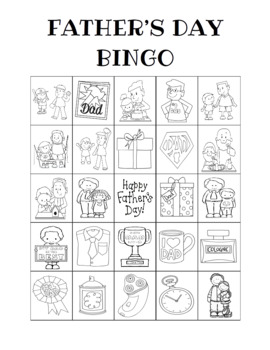 Father's Day Bingo Custom Printables