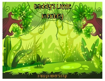 Father's Day Daddy's Little Monkey Craft Template