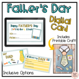 Father's Day Digital Card for Google Slides - Virtual Learning