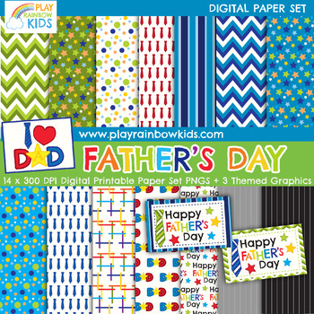 Father's Day Digital Paper