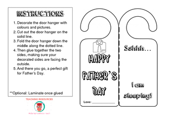 Father's Day Door Hanger