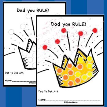 Father's Day  Dot Marker No Prep Printable