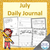 Summer, Beach, Ice Cream, Camping Journal Writing for Spec