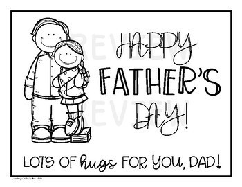 Father's Day English and Spanish Card & Letter Set (No Prep)