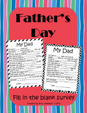 Father's Day Fill in the blank survey