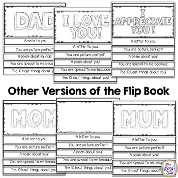Father's Day Flip Book (FREE) Includes Special Someone Version