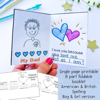 Father's Day Foldable Booklet - Free Download
