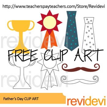 father s day free clip art by revidevi teachers pay teachers rh teacherspayteachers com